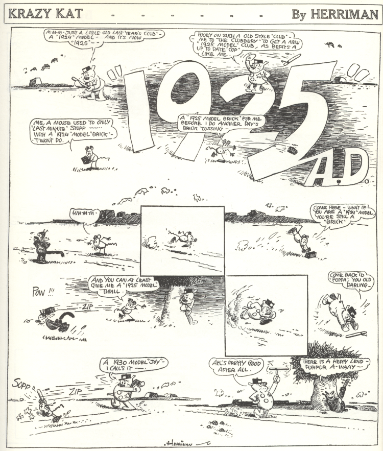 Krazy Kat, 11th Jan 1925
