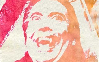 Christopher Lee Tie-Dye of Dracula by Tom