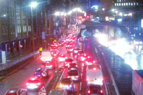 Queensway Tunnel Traffic Jam - photo by Craig Hamilton